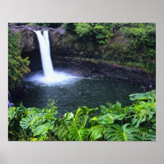 Hawaii, isla grande, Hilo, caídas del arco iris, b Impresiones