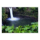Hawaii, isla grande, Hilo, caídas del arco iris, b Felicitacion