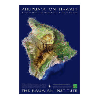 Hawaii Island Ahupuaa Posters