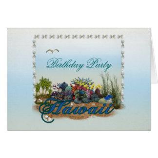 Hawaii island Birthday Party Card