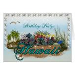 Hawaii island Birthday Party Greeting Card