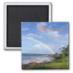 Hawaii Island Rainbow Magnet Fridge Magnet