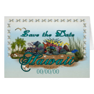 Hawaii island Save the Date Card