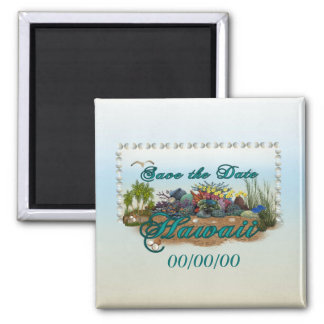 Hawaii island Save the Date Magnet
