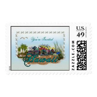 Hawaii island you re Invited Stamps