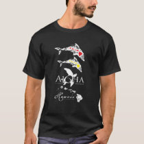 Hawaii Islands and Dolphins T-Shirt