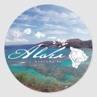 Hawaii Islands and Hanauma Bay Classic Round Sticker