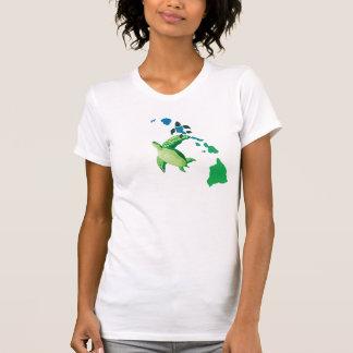 Hawaii Islands and Hawaii Turtle Shirt