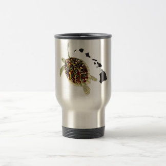 Hawaii Islands and Hawaii Turtle Travel Mug