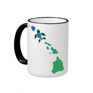 Hawaii Islands and Oahu Turtle Ringer Mug