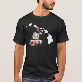 Hawaii Islands and Santa Claus T-Shirt