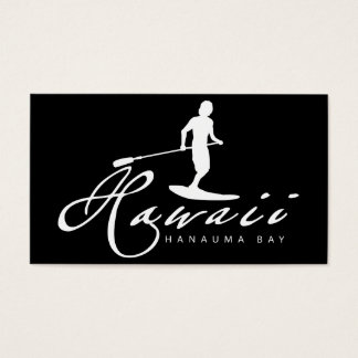 Hawaii Islands and Surfing Business Card