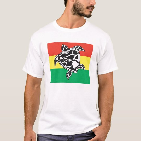 Hawaii Islands and Turtle T-Shirt