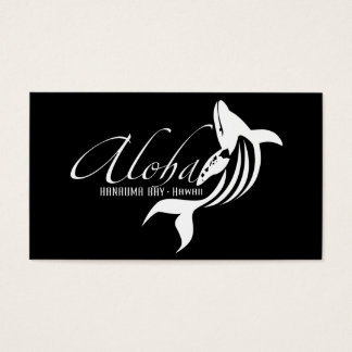 Hawaii Islands and Whale Business Card