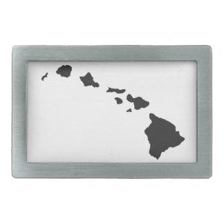 Hawaii Islands Rectangular Belt Buckles