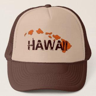 Hawaii islands brown orange hat