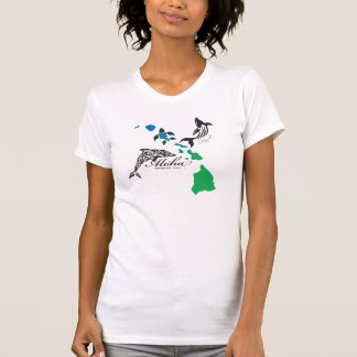 Hawaii Islands Chain - Hawaii Dolphin and Whale T-Shirt