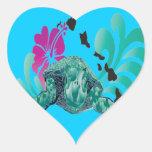 Hawaii Islands Heart Sticker