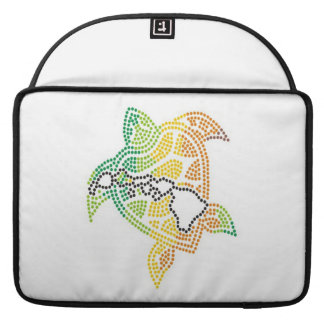 Hawaii Islands Reggae Turtle Sleeve For MacBooks