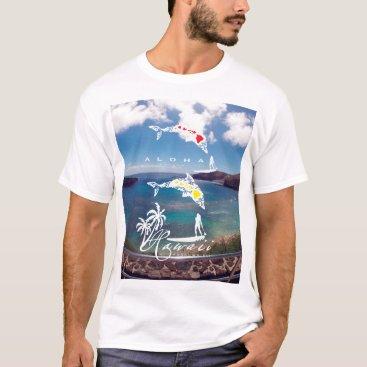 Hawaiian Themed Hawaii Islands Surfing T-Shirt