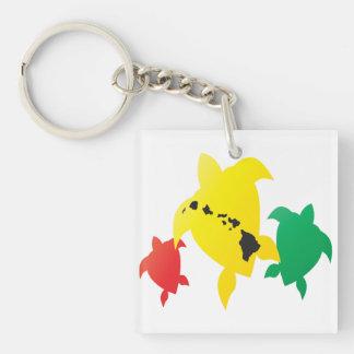 Hawaii Islands Turtle Acrylic Keychain