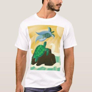 Hawaiian Themed Hawaii Islands Turtle T-Shirt