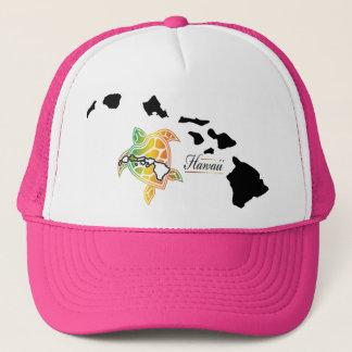 Hawaii Islands - Turtle Trucker Hat