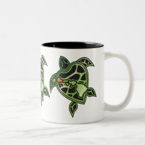 Hawaii Islands Turtle Two-Tone Coffee Mug