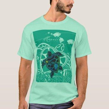 Hawaiian Themed Hawaii Islands Turtles T-Shirt