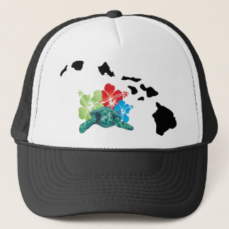 Hawaii Islands Turtles Trucker Hat