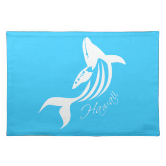 Hawaii Islands- Whale Cloth Placemat