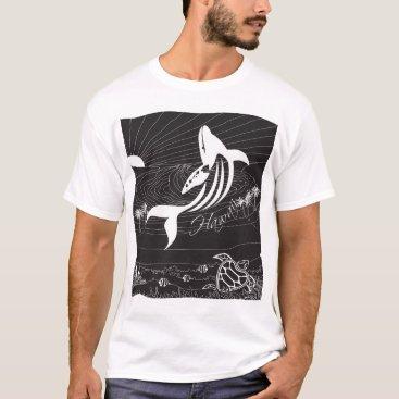 Hawaiian Themed Hawaii Islands whale T-Shirt