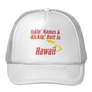 Hawaii - Kickin' Butt Trucker Hat