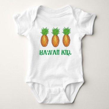 Hawaiian Themed Hawaii Kid Tropical Hawaiian Island Pineapple Baby Bodysuit