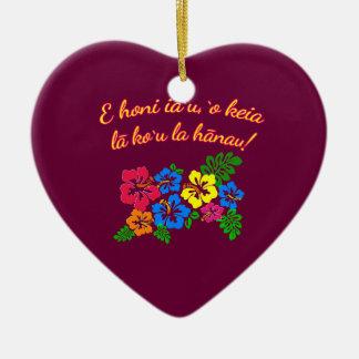 HAWAII Kiss Me It's My Birthday in Hawaiian Ceramic Ornament