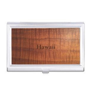 Hawaii business card holders cases zazzle hawaii koa wood design business card holder reheart Gallery