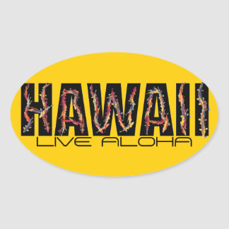 Hawaii koi fish live aloha orange stickers