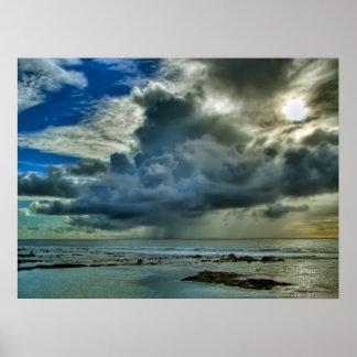 Hawaii Kona Coast Squall Poster