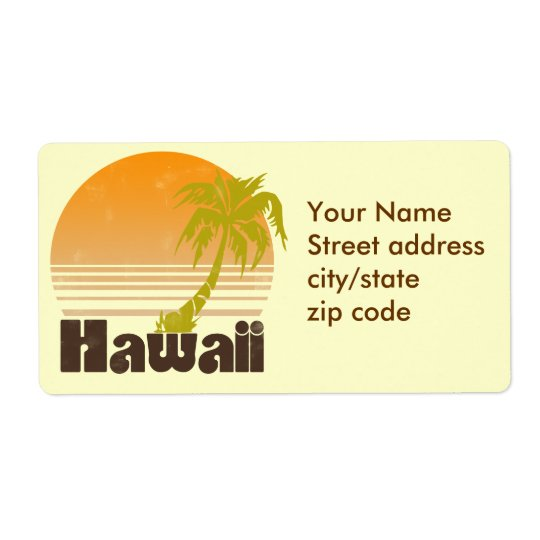 Hawaii Label