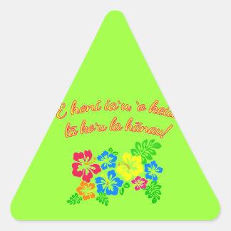HAWAII Language Kiss Me It's My Birthday Triangle Sticker