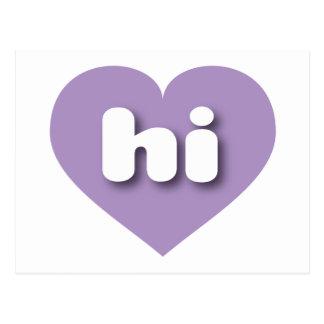 hawaii lavender heart - mini love postcard