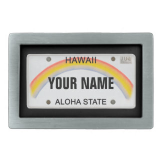 Hawaii License Plate (customizable) Rectangular Belt Buckle