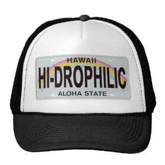 hawaii license plate trucker hat