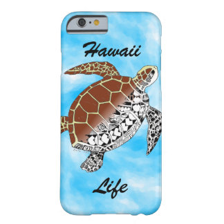 Hawaii Life with Sea Turtle Tribal Barely There iPhone 6 Case