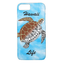 Hawaii Life with Sea Turtle Tribal iPhone 8/7 Case