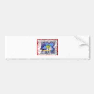 Hawaii Limited Edition Blue Floral Bumper Sticker