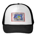 Hawaii Limited Edition Blue Floral Mesh Hat