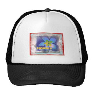 Hawaii Limited Edition Blue Floral Trucker Hat