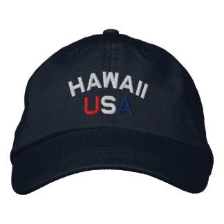 Hawaii los E E U U bordó el gorra de los azules m Gorra De Béisbol Bordada