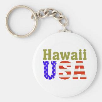 ¡Hawaii los E.E.U.U.! Llavero Redondo Tipo Pin